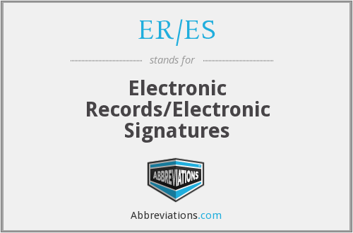 What does ER/ES stand for?