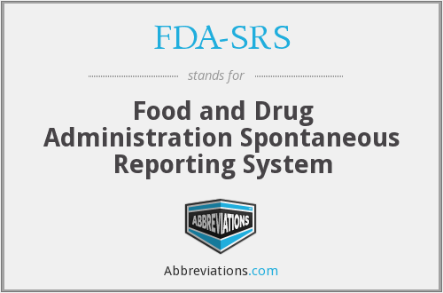 What does FDA-SRS stand for?