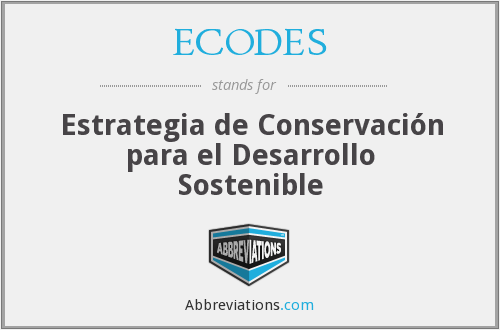 What does ECODES stand for?