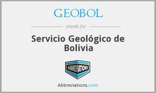 What does GEOBOL stand for?