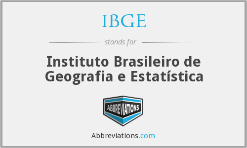 What does IBGE stand for?