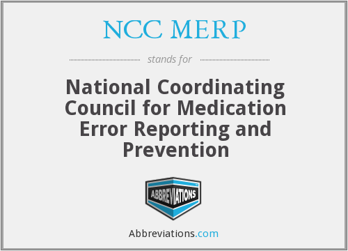 What does NCC MERP stand for?