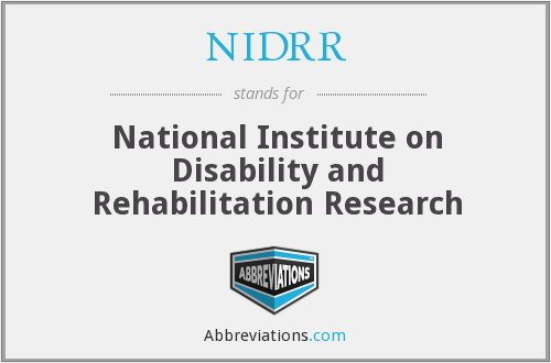 What does NIDRR stand for?