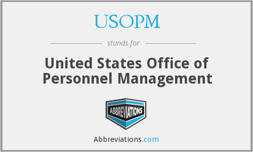 What does USOPM stand for?