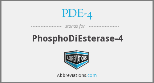 What does PDE-4 stand for?