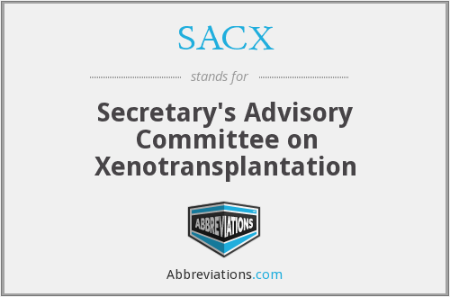 What does SACX stand for?