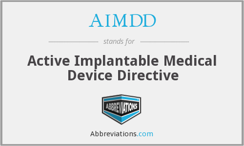 What does AIMDD stand for?