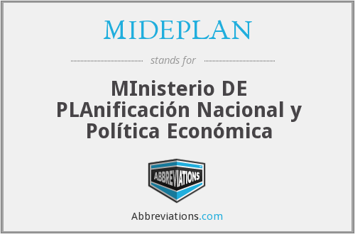 What does MIDEPLAN stand for?