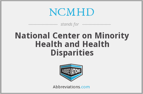 What does NCMHD stand for?