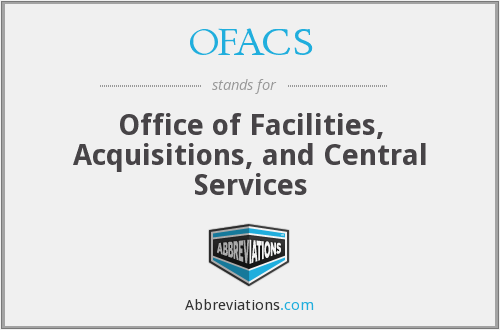 What does OFACS stand for?