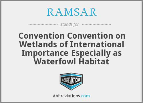 What does RAMSAR stand for?