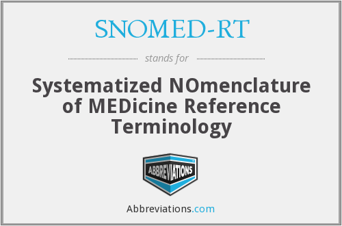 What does SNOMED-RT stand for?
