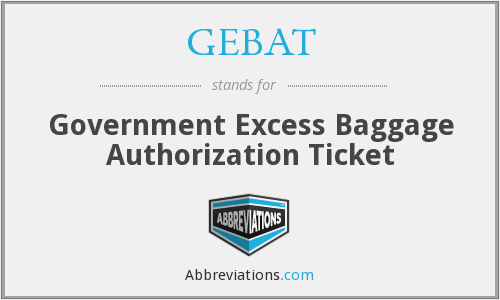 What does GEBAT stand for?