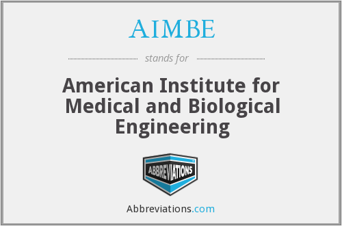 What does AIMBE stand for?