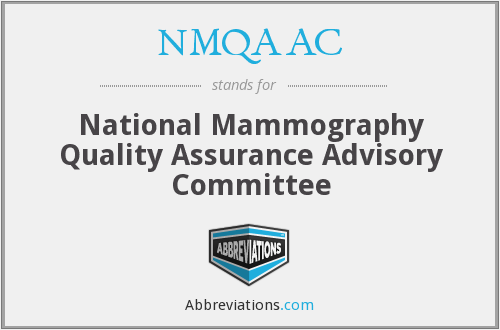 What does NMQAAC stand for?