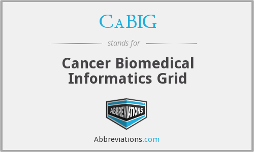 What does CABIG stand for?