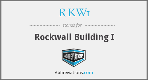 What does RKW1 stand for?