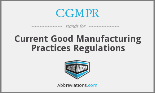 What does CGMPR stand for?