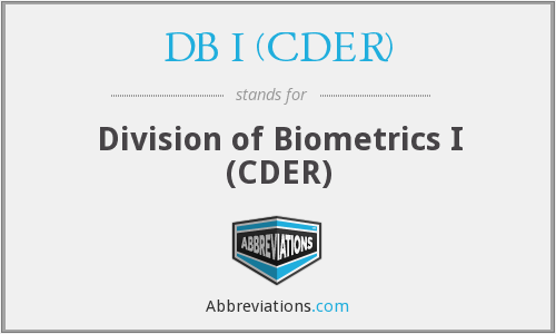What does DB I (CDER) stand for?