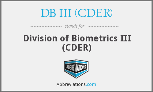 What does DB III (CDER) stand for?