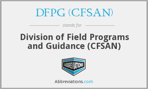 What does DFPG (CFSAN) stand for?