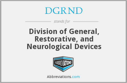What does DGRND (CDRH) stand for?