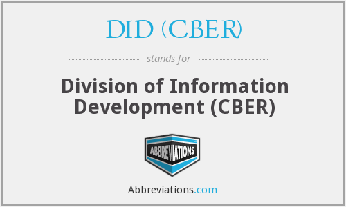 What does DID (CBER) stand for?