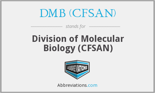 What does DMB (CFSAN) stand for?