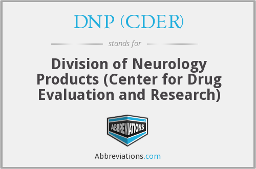 What does DNP (CDER) stand for?