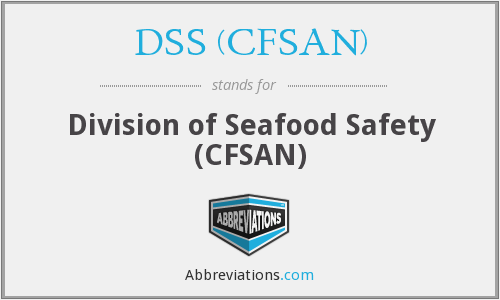 What does DSS (CFSAN) stand for?