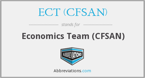 What does ECT (CFSAN) stand for?
