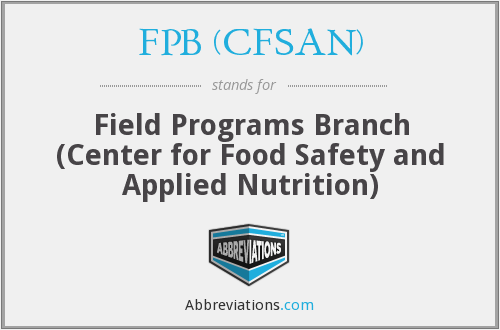 What does FPB (CFSAN) stand for?