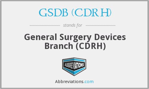 What does GSDB (CDRH) stand for?