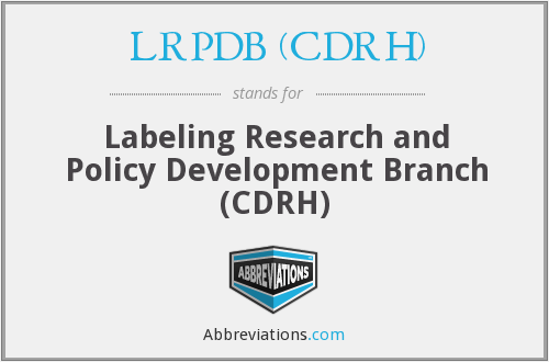 What does LRPDB (CDRH) stand for?