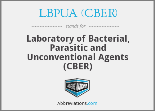 What does LBPUA (CBER) stand for?
