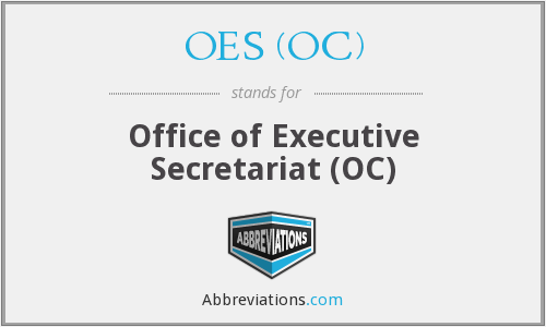 What does OES (OC) stand for?