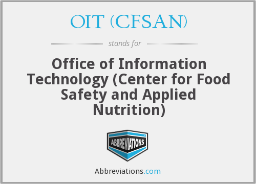What does OIT (CFSAN) stand for?