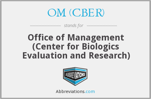 What does OM (CBER) stand for?