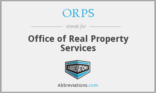 What does ORPS stand for?