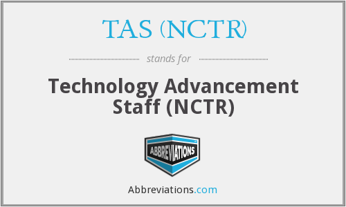 What does TAS (NCTR) stand for?