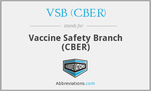 What does VSB (CBER) stand for?