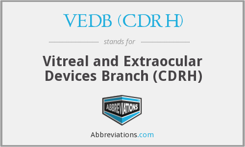 What does VEDB (CDRH) stand for?