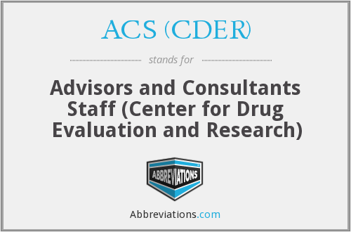 What does ACS (CDER) stand for?