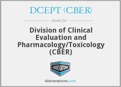 What does DCEPT (CBER) stand for?