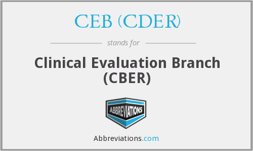 What does CEB (CDER) stand for?