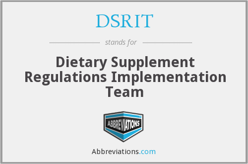 What does DSRIT stand for?
