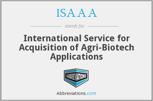 What does ISAAA stand for?