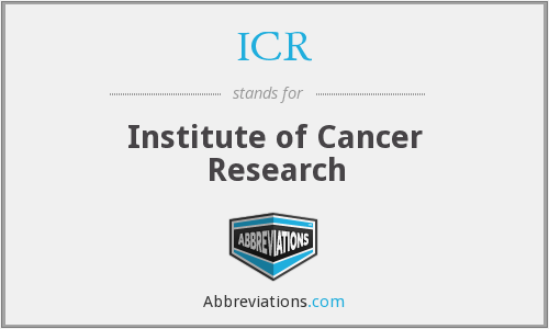What does ICR stand for?