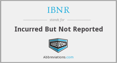 What does IBNR stand for?