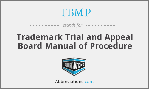 What does TBMP stand for?